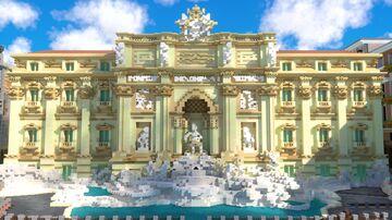 Fountain di Trevi, Rome Minecraft Map & Project