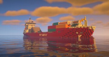 Container feeder ship Minecraft Map & Project