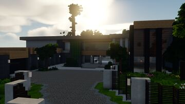 10701 Levico Way // LA Inspired Modern house Minecraft Map & Project