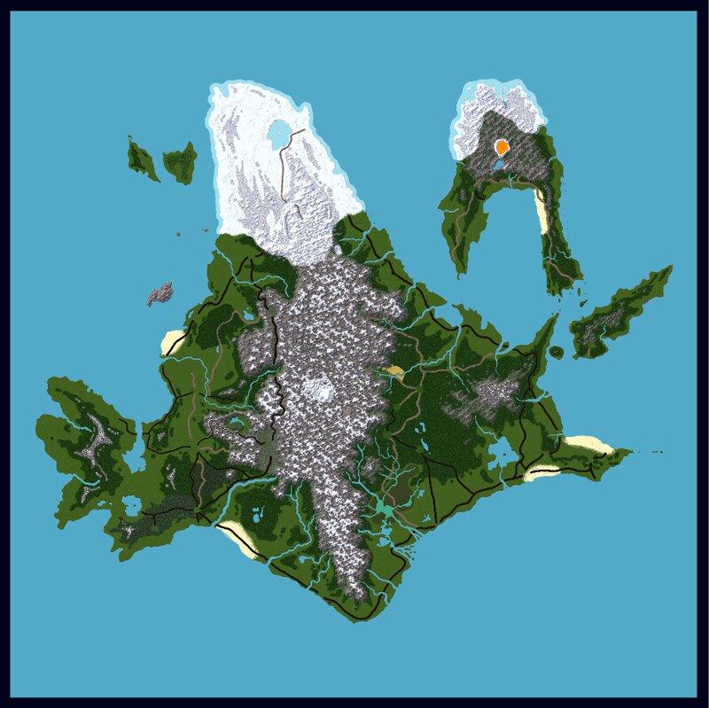 Carte entiere sans ville, pont...    Complete map without city, bridge...