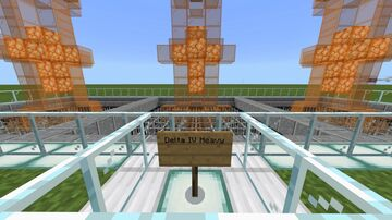 Delta IV Heavy Launch Vehicle Minecraft Map & Project