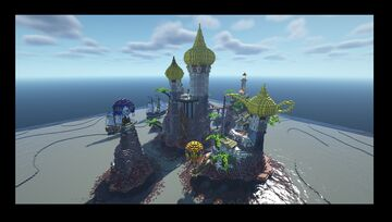 Tropical Palace Minecraft Map & Project