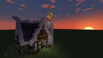 Simple Candle Shop Build Idea - [World Download] Minecraft Map & Project