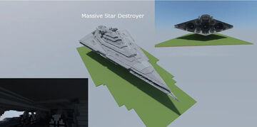 "Star Wars: The Force Awakens - Resurgent Class Star Destroyer ""Finalizer"" Minecraft Map & Project"