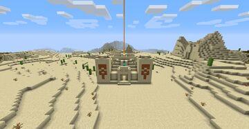Desert temple base Minecraft Map & Project