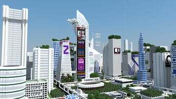 Ikelos's City Server (~8KM) (Java) (October 2021) Minecraft Map & Project