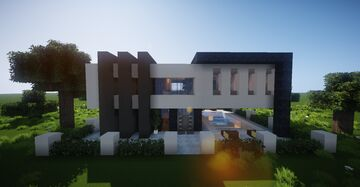 Small Modern House #7 (map download + decorated) 🏡 Minecraft Map & Project