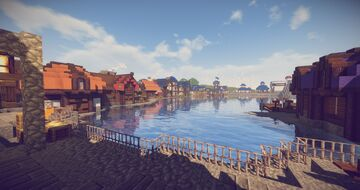 Ocean Port City Minecraft Map & Project