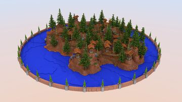 Western Town Hub [500x500] | 1.8+ Minecraft Map & Project