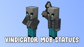 Vindicator Mob Statues Minecraft Map & Project