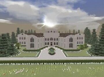 Sandstone Villa - Massive Mansion Minecraft Map & Project
