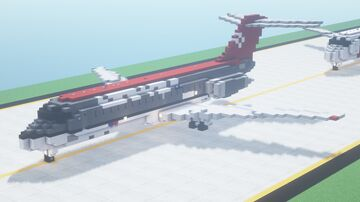 Mcdonnell Douglas DC-9 (All Variants)   2:1 Scale Minecraft Map & Project
