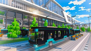 Enbarr Central Station | A Train Station combining History, Mobility and Sustainability Minecraft Map & Project