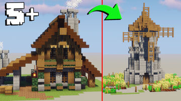 Minecraft: 5+ Epic Medieval Build Minecraft Map & Project