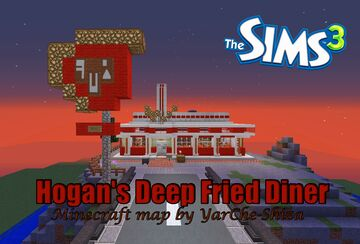 Hogan`s Deep Fried Diner -- Cafe from Sims 3 Minecraft Map & Project