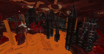 Deathland Nether Fortress/Dungeon Minecraft Map & Project