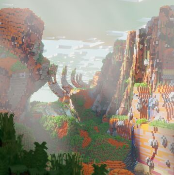 Mesastoic. Showcase terrain. Smol Minecraft Map & Project