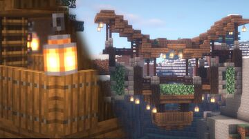 Minecraft | Mountain Bridge Idea | How to Build A Mountain Bridge Tutorial Minecraft Map & Project