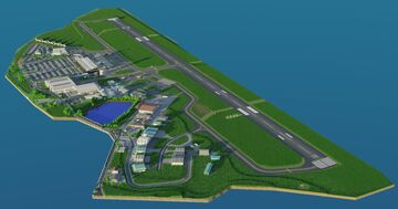 Nelson Regional Airport (NSN/NZNS) 1:1 BTE Minecraft Map & Project