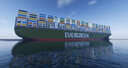 Ever Given container ship (Evergreen) Minecraft Map & Project
