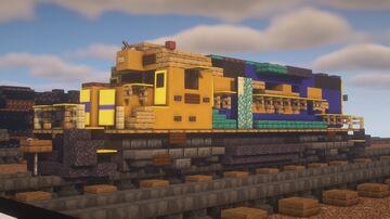 """BNSF - EMD GP39-2 """"Blue Santa-Fe"""" Minecraft Map & Project"""