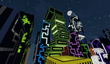 Cyber City Hunt Minecraft Map & Project