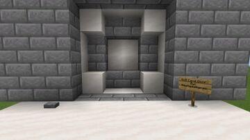 4x4 Cave Door MCBE Minecraft Map & Project
