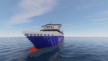 Blue Star Paros Car Ferry Minecraft Map & Project