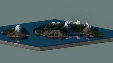2k x 2k Island   Worldpainter Minecraft Map & Project