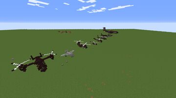 Army/Military Aircrafts schematic Minecraft Map & Project