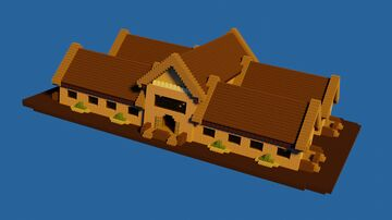 Wooden Library Minecraft Map & Project