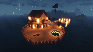 map plateforme de pêcheur sur la mer Minecraft Map & Project