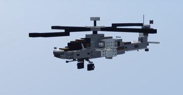 Ah-64D Apache Longbow Gunship (1.5:1 scale) Minecraft Map & Project
