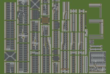 Default road pack schematic 1.9+ Minecraft Map & Project