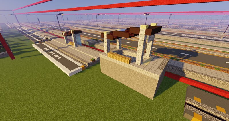 BUS STOP AND SUBWAY ENTRANCE