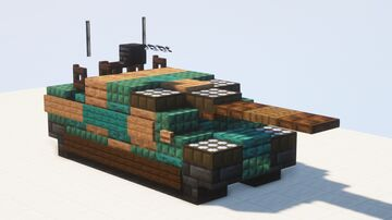 Type 10 MBT 1:1 scale Minecraft Map & Project