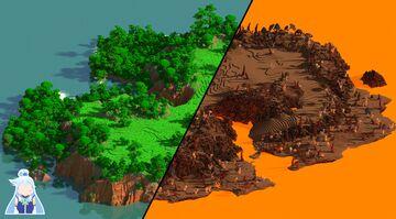 Jungle Cross - 1000x1000 | WarZone Map 1.12 - 1.16 Minecraft Map & Project