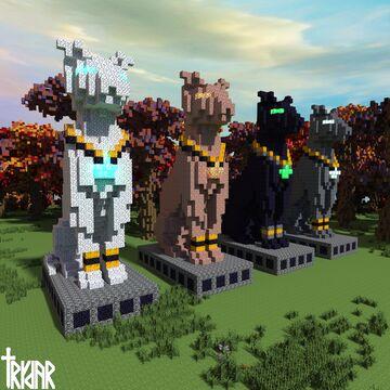 Cat Statue +tutorial Minecraft Map & Project