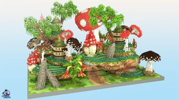 HCF Spawn + Road – MUSHROOM Theme Minecraft Map & Project
