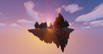 floating island of foxes Minecraft Map & Project
