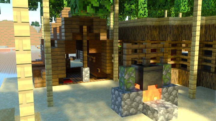 A Camp On The Market Island