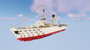 Seaplane Tender ZMAJ 1:1 Scale [Royal Yugoslav Navy]  (FULL INTERIOR) Minecraft Map & Project
