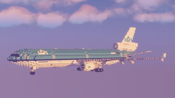 McDonnell Douglas MD-11 | KLM Royal Dutch Airlines | 2:1 Scale Minecraft Map & Project