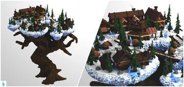 Nordic Village Spawn Minecraft Map & Project