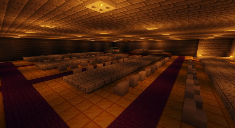 The dinning hallsroom! The golden floor is to show wealth to those who attend to events here!
