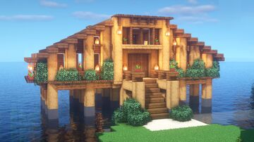 Wooden lake house Minecraft Map & Project