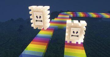 Mario Kart - SNES Rainbow Road Minecraft Map & Project