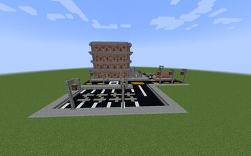 Small Brick Building with cafe Minecraft Map & Project