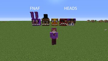 FNAF HEADS Minecraft Map & Project