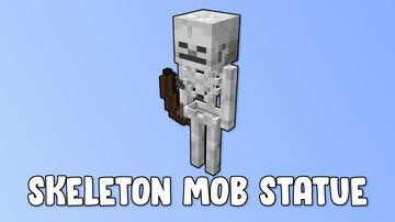 Skeleton Mob Statue Minecraft Map & Project